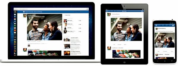 הניוז פיד החדש של פייסבוק - כשתעברו מהמחשב הנייד/נייח לטאבלט או לסמארטפון - פייסבוק ייראה זהה