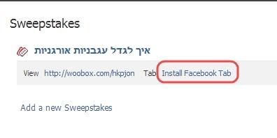 הטמעת הטאב בעמוד הפייסבוק