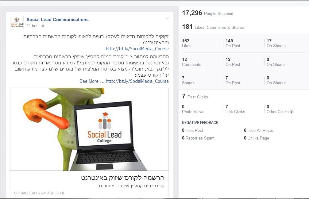 המידע המלא שפייסבוק מספק על כל פיסת מידע שאנחנו מעלים