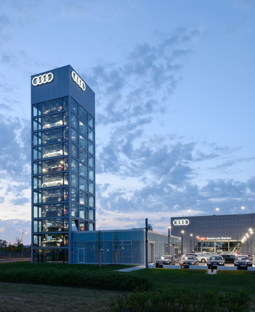 המגדל של דגמי מכוניות אאודי