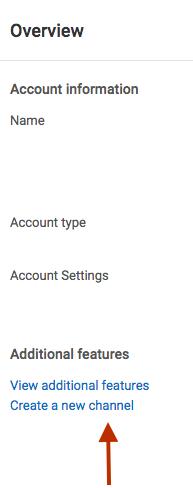 סקירה כללית של ערוץ יוטיוב