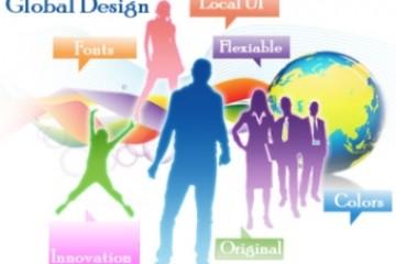 עיצוב האתר הגלובלי באלמנטים נכונים שיגעו באזורים השונים